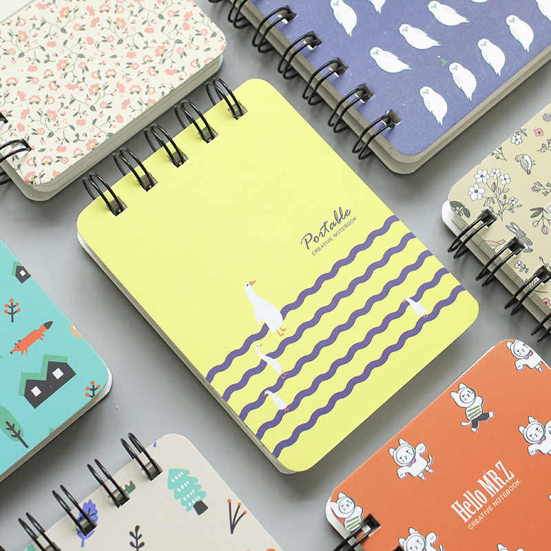 Korea Stationery Kartun Mini Coil Ini Lucu Notebook Mahasiswa Kecil Notebook Kantor Notebook