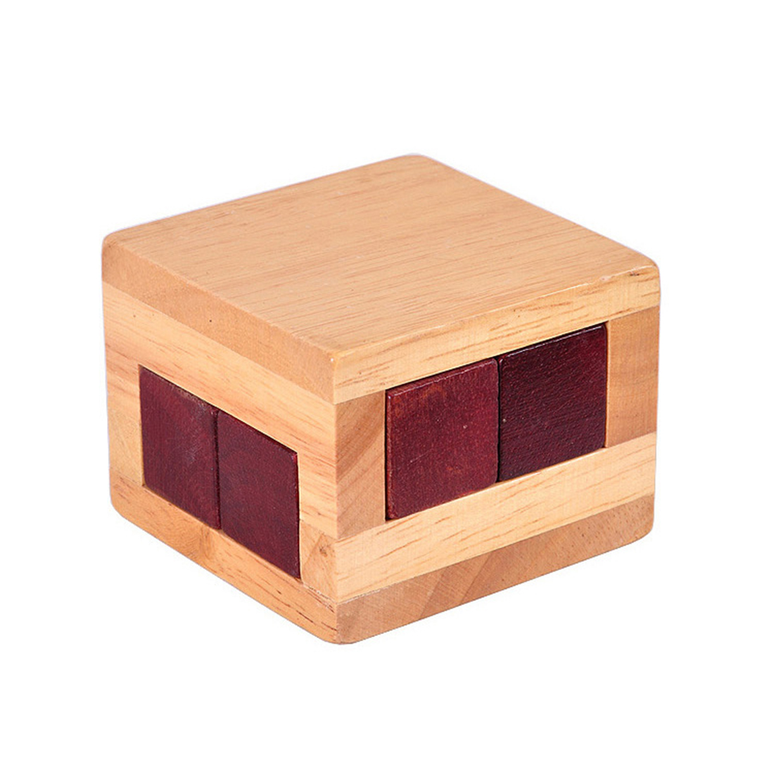 Surwish Wooden Luban Lock Magic Box Puzzle Game Educational Toys for Children Adult – L