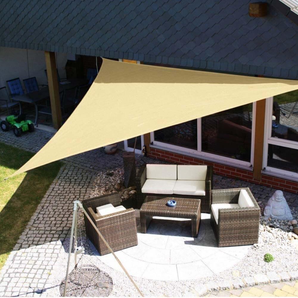 €18.18 18% de DESCUENTO18x18 18,18x18,18 18x18m impermeable refugio solar  triángulo protección UV exterior dosel jardín Patio piscina refugio vela  toldo