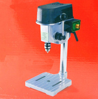 340W Mini DIY Drill Press Bench 220V Rotary Tools 16000rpm High Speed 22mm Stroke Clamping 0.6 6.5mm Wood Metal Plastic Drilling