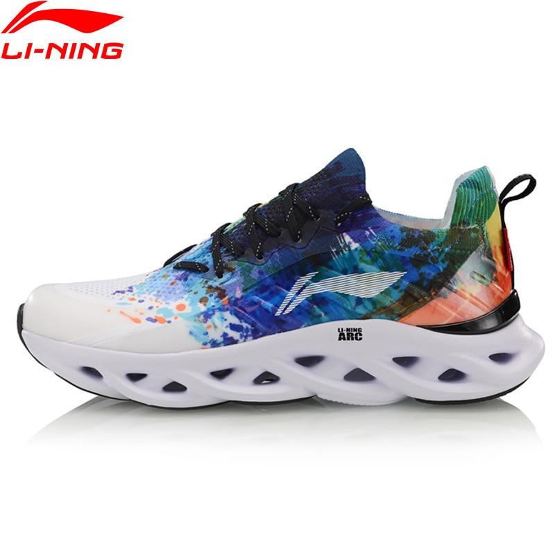 Li-Ning Homens LN ARCO Almofada Tênis de Corrida Sapatos Respirável Forro de Fios Mono Wearable Suporte Estável Sapatas Do Esporte Das Sapatilhas ARHP073 SJAS19
