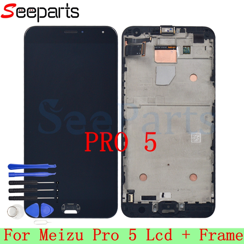 NEW 1920*1080 For Meizu Pro 5 LCD Display Touch Screen Digitizer Assembly Frame Replacement For 5.7 Meizu pro5 pro 5 LCD ScreenNEW 1920*1080 For Meizu Pro 5 LCD Display Touch Screen Digitizer Assembly Frame Replacement For 5.7 Meizu pro5 pro 5 LCD Screen