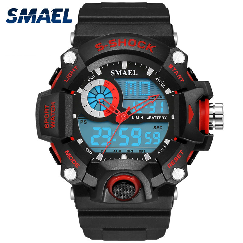 SMAEL Analog LED Digit Sport Watches Men Waterproof