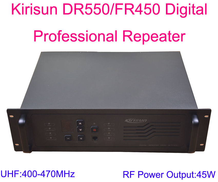 New Arrival Kirisun DR550/FR450-45W Digital Professional Repeater UHF:400-470MHz 45W 9 Channel Without Duplexer