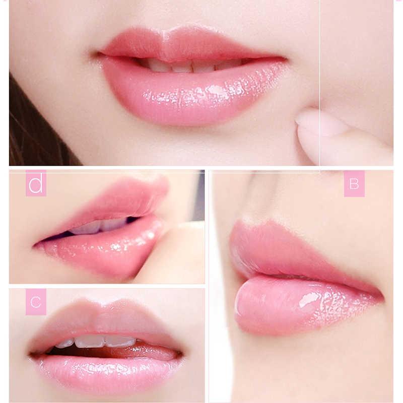 5pcs del Labbro della Mascherina Per Paffuta Labbro Essenza di Umidità Pianta Estratto di Fiori di Esfoliante Anti-Invecchiamento Scrub Esfoliante