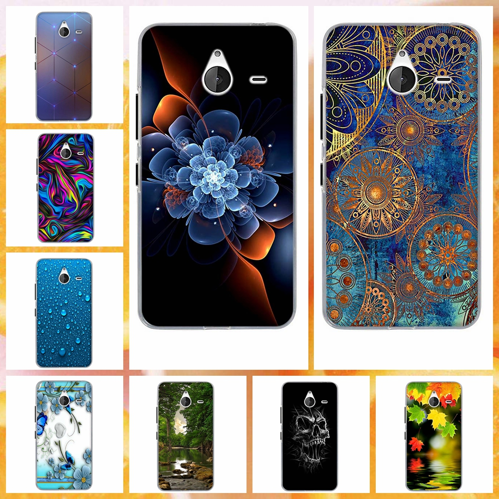 for Nokia 640XL New Fashion Painted Soft TPU Back Case Cover For Microsoft Nokia Lumia 640XL Case Silicon Cover Capa image