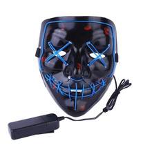 Halloween Costume Cosplay Masks 100pcs/lot LED Light Mask Up Funny Mask From The Purge Election Year Great for Festival Cosplay