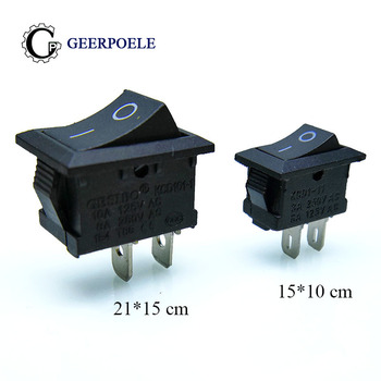 цена на 10 pcs/lot KCD1 2 Pin 250V 3A 21*15/15*10 Boat Switch Snap-in ON/OFF SPST Rocker  Switch Position