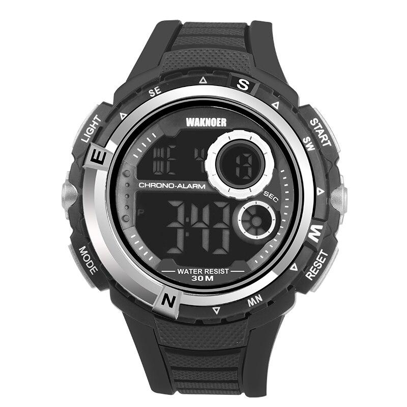 b96033eb4ff Militar dos Multifuncionais Waknoer Homens Relógio Digitais à Prova d  Água  Relógios Moda Esporte Kol Saati Masculino ...