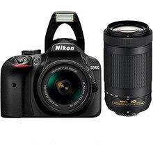 ใหม่Nikon D3400กล้องและAF-P 18-55มิลลิเมตร+ AF-P DX 70-300มิลลิเมตรF/4.5-6.3กรัมED VRคู่เลนส์KIT