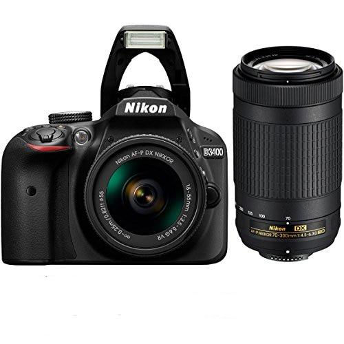 New Nikon D3400 Camera & AF-P 18-55mm + AF-P DX 70-300mm F/4.5-6.3G ED Twin Lens KIT