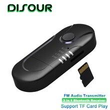 3 w 1 odbiornik Bluetooth USB 3.5mm samochodów przekaźnik audio FM wsparcie TF karty Auto odtwarzać muzykę Stereo bezprzewodowy Adapter do zestaw samochodowy