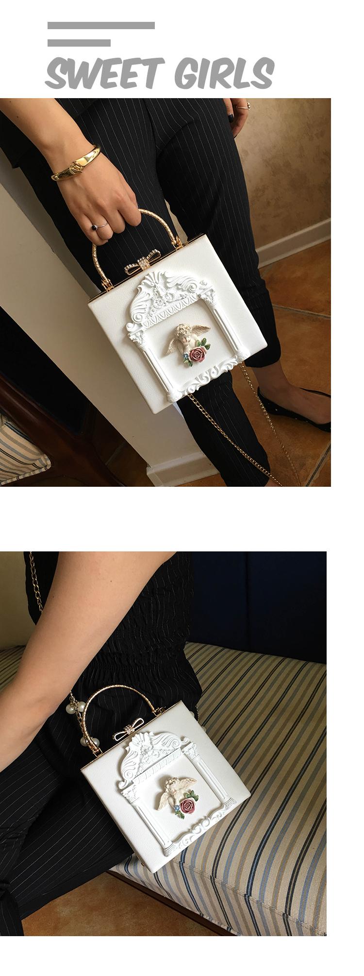2018 NEW Rose 3D Palace Sculpture Frame Bag Luxury Handbags Women Party Bags Designer Lady Cute Shoulder Messenger Bag Sac Tote 24