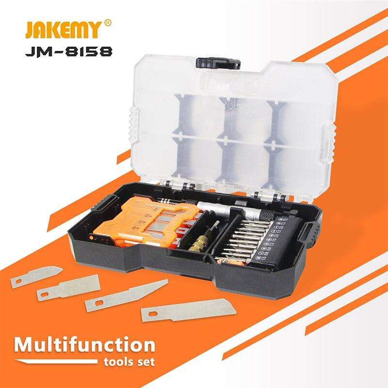JAKEMY JM-8158 Laptop Screwdriver Set Professional Repair Hand Tools Kit for Mobile Phone Computer Electronic Model DIY Repair