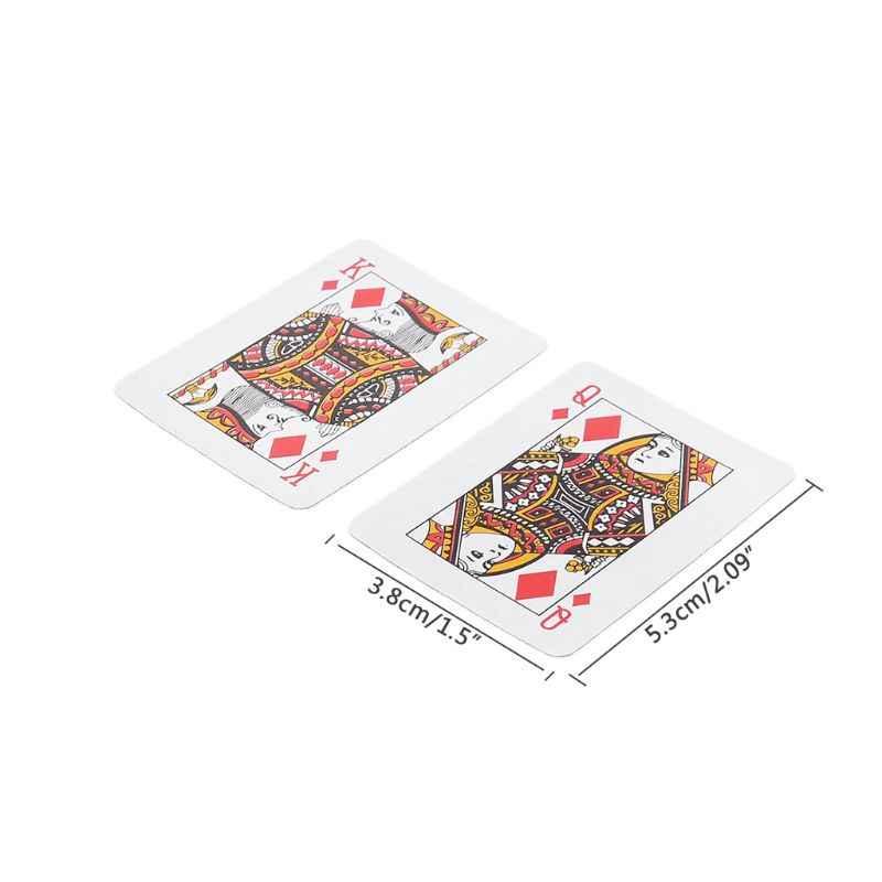 Mini tarjeta de juego portátil Texas Hold'em juego de mesa póquer escalada viaje de juguete