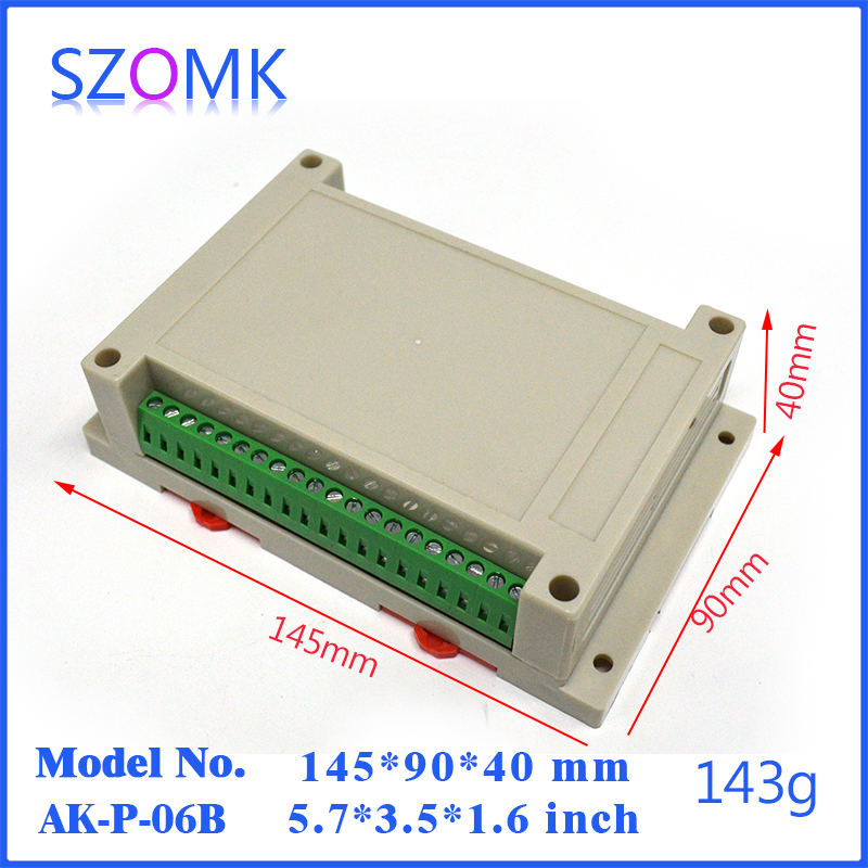10 pcs/lot housing in Abs plastic case and plastic din rail enclosures grey for 145*90*40mm electronics with terminal social housing in glasgow volume 2