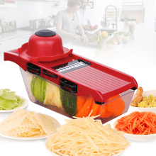 Multifunctional Manual Vegetable Cutter Slicer With 6 Blades Potato Carrot Grater Onion Kitchen Accessories