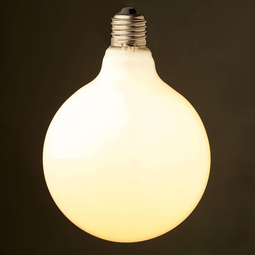 16W,LED Vintage Filament Bulb,Edison Frosted G125 Style,Warm Yellow(2200K),110V 220V,Decorative Lighting,E26 E27 Medium Base