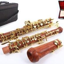 Профессиональный oboe C Ключ левый F резонансный корпус из палисандра позолоченный ключ Профессиональный Чехол oboe#04