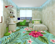цена beibehang Beautiful 3D glass flower wallpaper stylish living room bedroom bathroom floor paint papel de parede 3d 3d wallpaper в интернет-магазинах