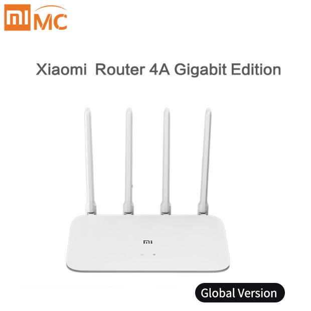 Global Version Xiaomi Router 4A Gigabit Edition 100M 1000M 2.4GHz 5GHz WiFi ROM 16MB 64MB 128MB High Gain 4 AntennasAPP Control
