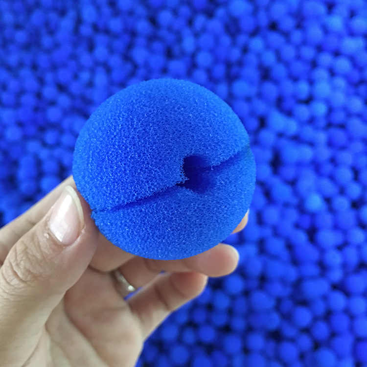 50pcs Fun Blue Clown Nose Foam Circus Nose Comic Party Supplies Christmas Accessory Costume Magic Toy Dress Party Halloween Prop