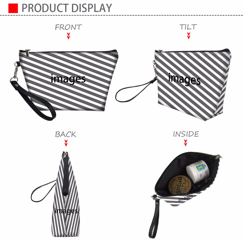 THIKIN Afro African Girls Printing Makeup Bags Cute Girl Cosmetic Bag Travel Organizer Make Up Pouch Women Toiletry Bag Dropping in Cosmetic Bags Cases from Luggage Bags