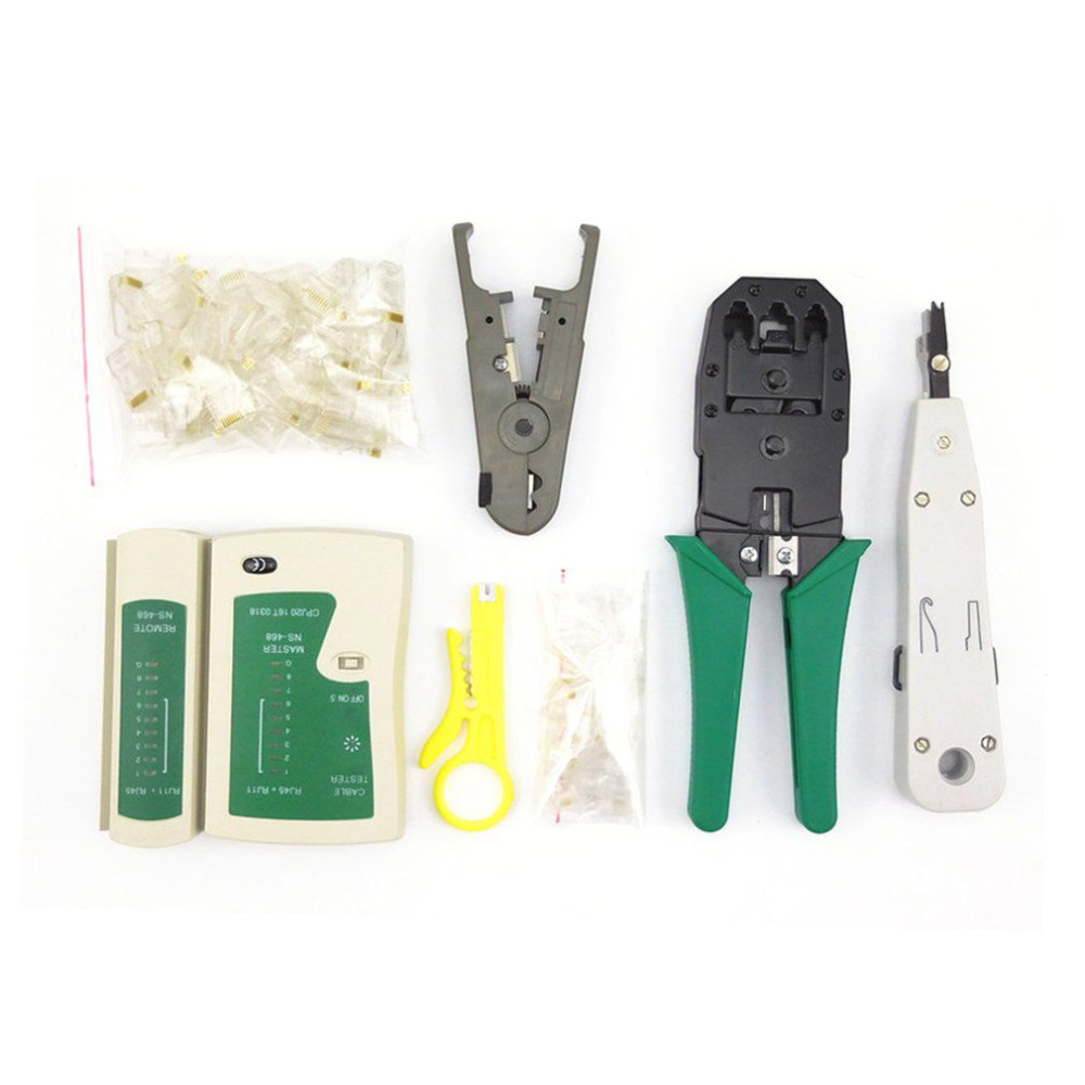 7 in 1 Network Tool Kit Cable Tester & Plier RJ45 Crimper Crimping Tool Punch Down RJ11 Cat6 Wire Line Detector New Arrival best promotion steel telephone network line wire cable tester crimping crimper punch tool pliers top quality