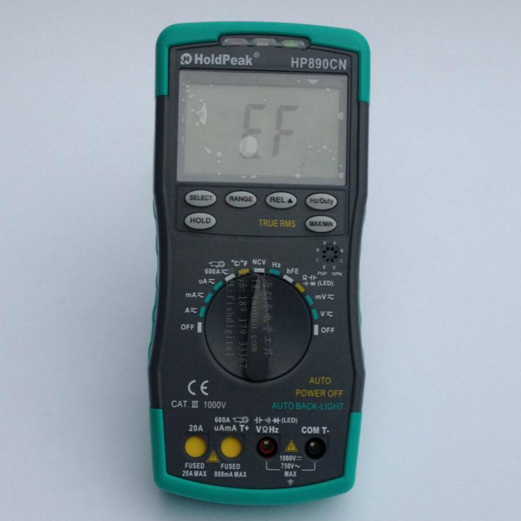 Clamp meter Stable LCD HoldPeak HP-890CN Digital Multimeter DCAC Voltage Current Meter Temperature Meaurement Auto Range HP890CN mini multimeter holdpeak hp 36c ad dc manual range digital multimeter meter portable digital multimeter