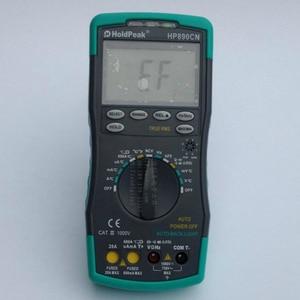 Clamp meter Stable LCD HoldPeak HP-890CN Digital Multimeter DCAC Voltage Current Meter Temperature Meaurement Auto Range HP890CN(China)