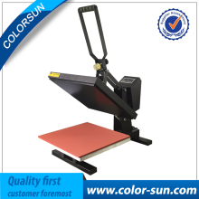 New 38*38 Flatbed Manual t-shirt printing machine clamshell heat press transfer T-Shirt Sublimation Machine