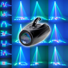 Disco Light RGBW 64Leds Auto Voice-activated sound party lights Pattern Stage Light Moonflower Projector Light DJ(China)