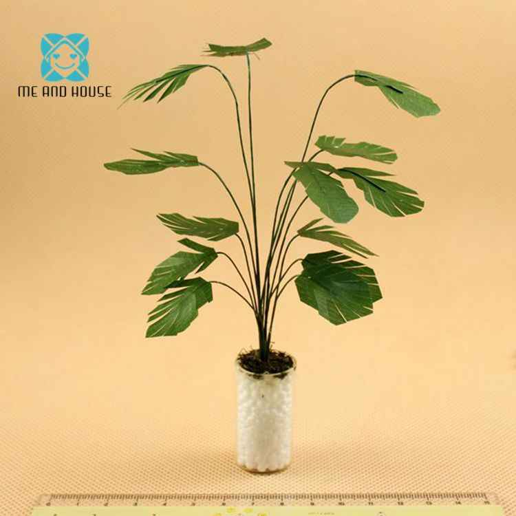 1:12 Doll House Miniature potted clay Macrocarpa plants handcrafted greenery