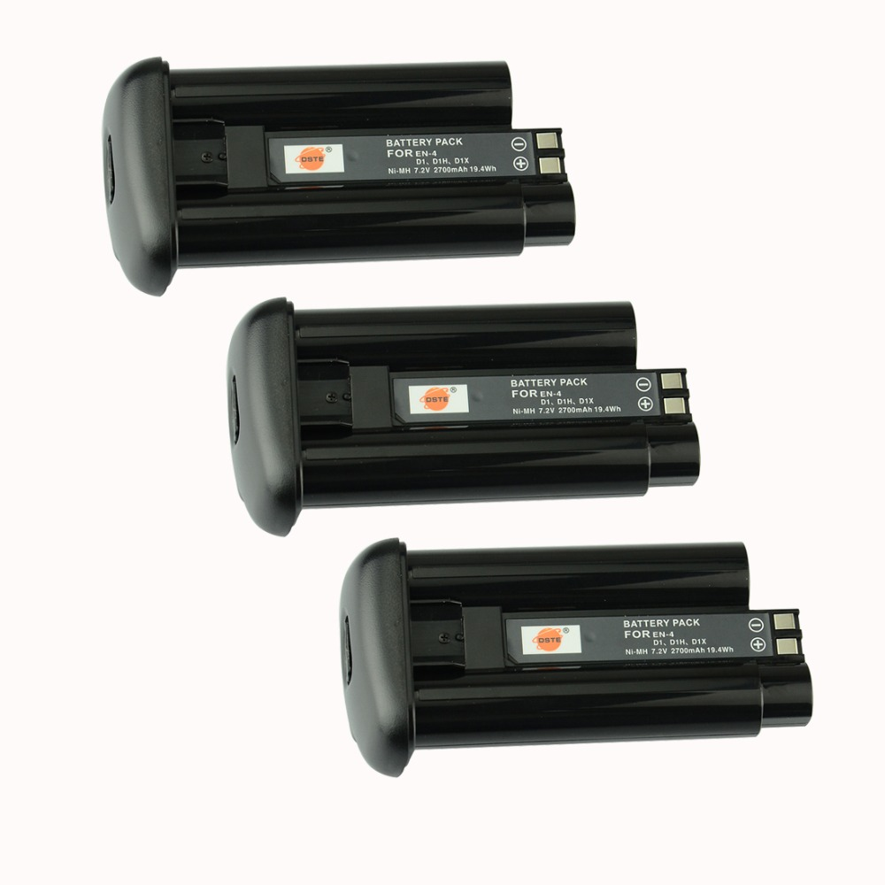 DSTE 3PCS EN-4-H Rechargeabl Battery for Nikon  D1/D1X/D1H Camera dste en el12 battery