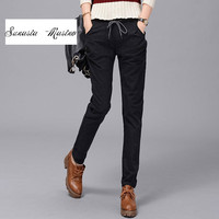 Sunasia Masino Apparel OL High Waist Harem Pants Women Stringy Selvedge Spring Style Casual Pants Female