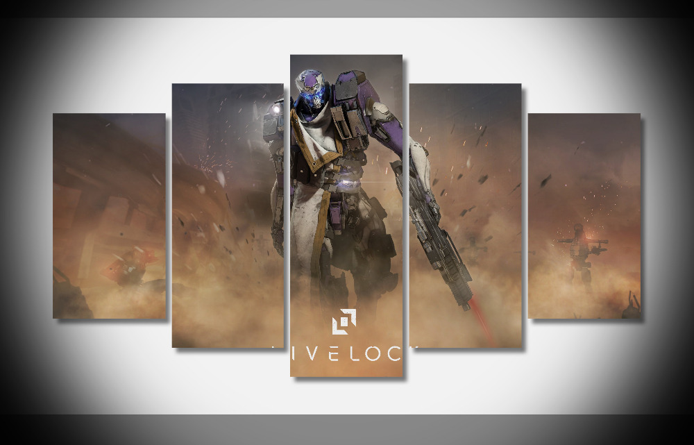6963 livelock ps4 game poster Framed Gallery wrap art print home wall decor wall picture Already to hang digital print