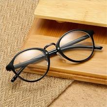 96673c8557 KLASSNUM Vintage Round Glasses For Man Woman Transparent Lens Eyeglass Frame  Bright