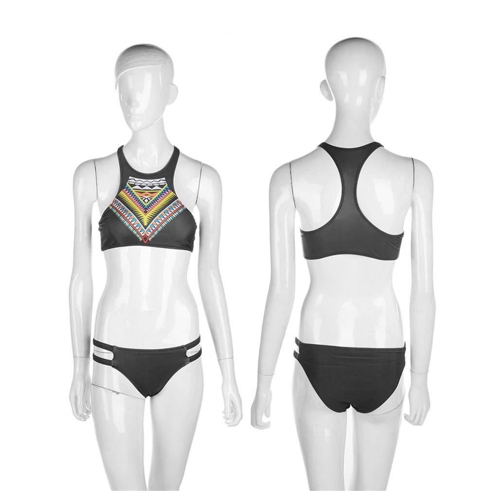 Clear Stock Sexy Womens Crop Top Biquini Swimsuit Dress Bandage Triangle Bikini Swimwear Set Push up Bra Padded Swimsuit