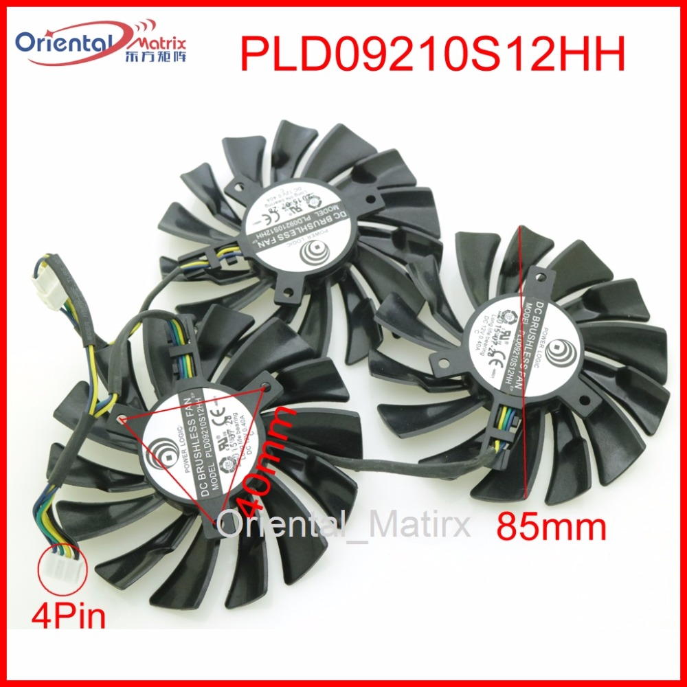 Free Shipping 3pcs/lot PLD09210S12HH DC12V 0.40A 85mm VGA Fan 4Pin For MSI GTX1080Ti 11G DUKE 980Ti Graphics Card Cooling Fan free shipping original delta cooling fan nfb10512hf 7f03 49 87y01g001 12v 0 39a 3 wires projector 5pcs lot