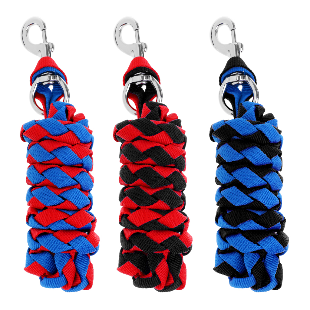 Durable Heavy Duty Horse Riding Braided Equestrian Lead Rope with Sturdy Clasp 20/30/25mm for Horse Riding Accessoreis
