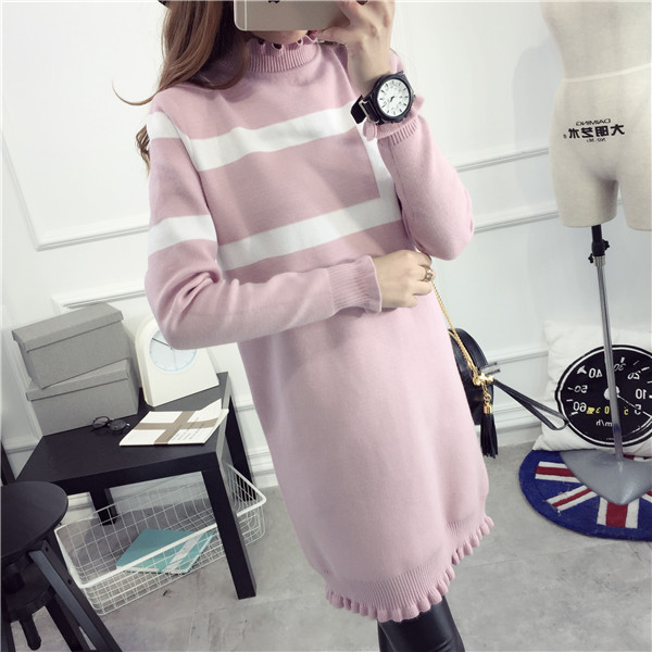 2016 Autumn And Winter Thickening Winter Turtleneck Plus Size Solid Color Black Pink Gray Purple Maternity Sweater For Pregnant