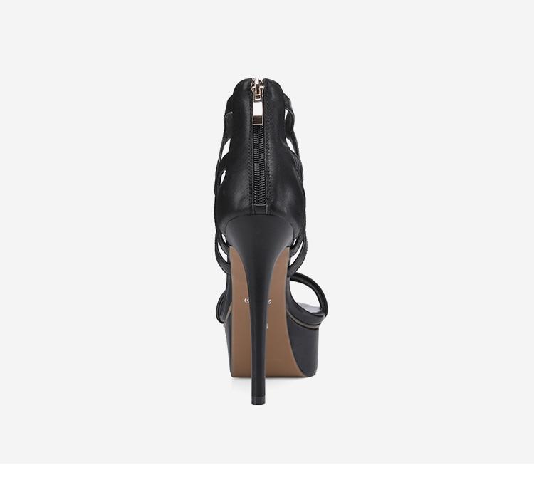 9d57e720216b36 Mince Sexy Black 40 Haute black De Plate forme Leather Taille Soirée Grande  Femmes 2018 Femme Cow Sandales D'été apricot Nouveau Talons {zorssar} ...