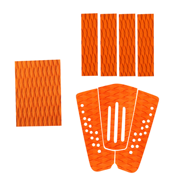 3 Set Non-Slip EVA Surfboard Traction Pad Surfboard Deck Pads SUP Surf Grip Tail Pads Traction Pad Accessories
