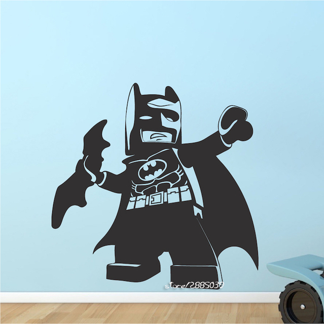 Mini Cute Batman Superhero Wall Stickers E Co Friendly Vinyl Wall Decals  Hot Hero Kids