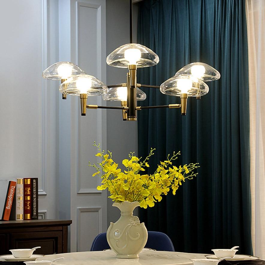 Modern Light Luxury LED Chandelier lighting Glass Jellyfish Creative Designer Lighting Living Room Model  Dining Room Lamp