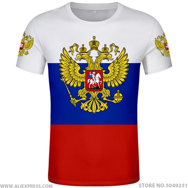 RUSSIA t shirt free custom made name number rus socialist t shirt flag russian cccp ussr diy rossiyskaya ru soviet union clothes