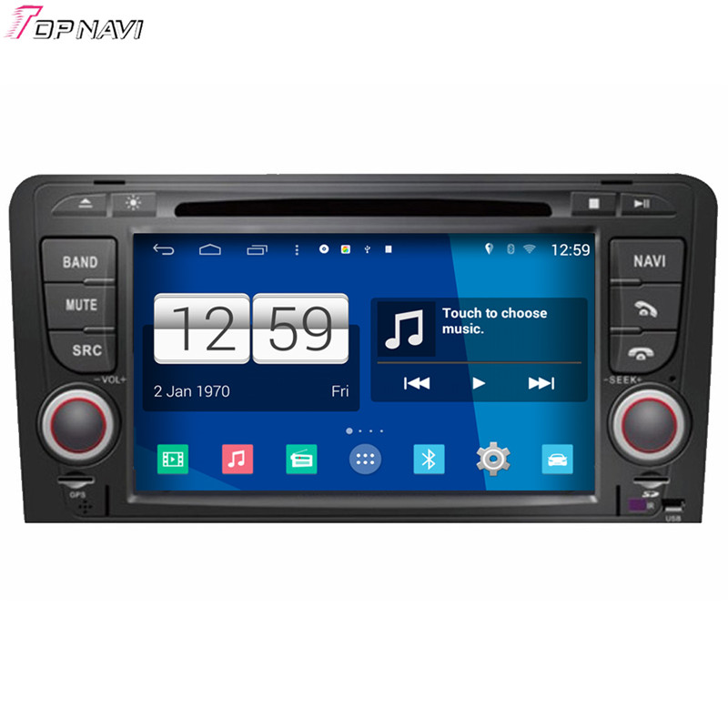Top 7'' Free Shipping Quad Core S160 Android 4.4 Car DVD Player For A3 For Audi With European Map Mirror Link BT Wifi 16GB Flash