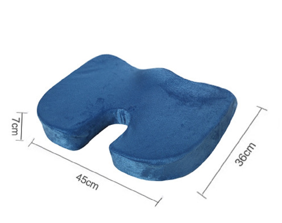 Image 5 - Seat Cushion Pillow for Office Chair   100% Memory Foam Lower Back Pain Relief   Contoured Posture Corrector for Car, Wheelchair-in Cushion from Home & Garden