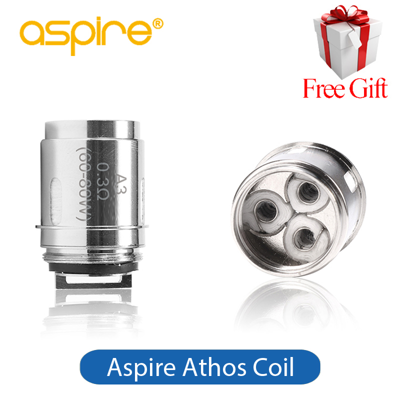 все цены на Original Aspire Athos Coil Aspire A1 A3 A5 Coils 0.3ohm 0.16ohm Fit Athos Tank Speeder Kit 5 pieces/lot Replacement Vape Coil