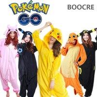 Primavera Otoño Unisex Adulta Pijamas traje de Cosplay de Pikachu Pokemon fire dragon Umbreon pijamas Animal Onesie pijama